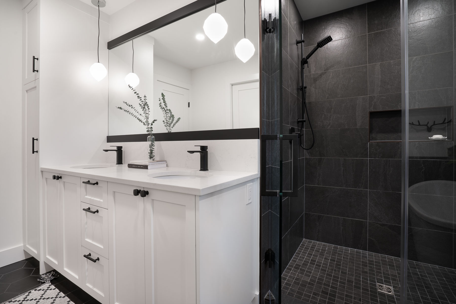 Master Bath Vanity and Shower