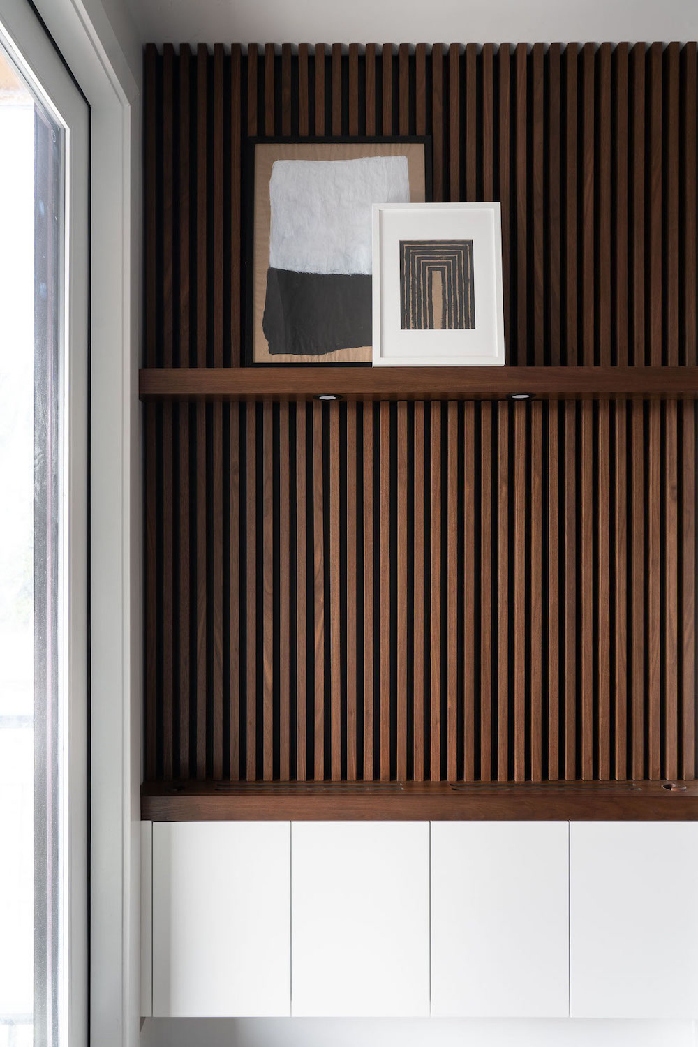 Walnut Slat Feature Wall